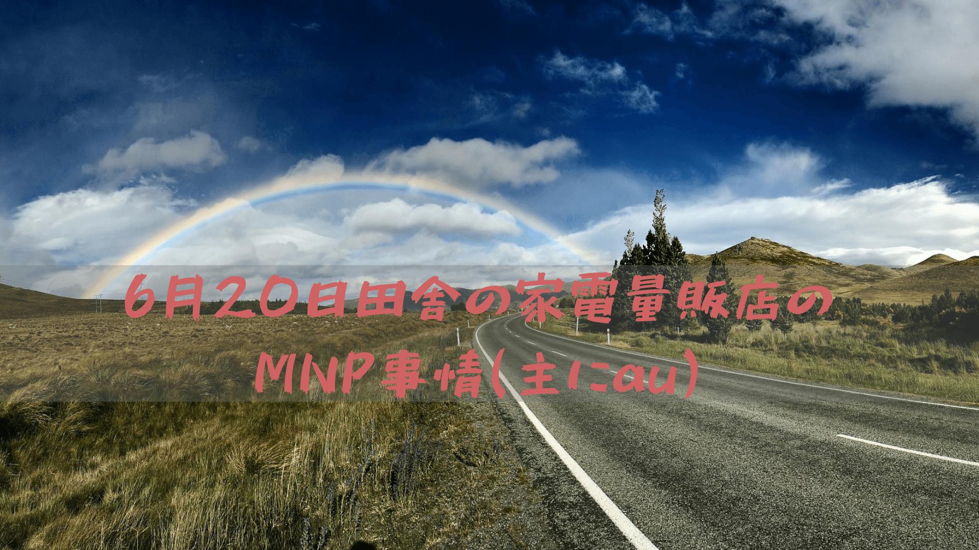 6月20日田舎の家電量販店のMNP事情(主にau)