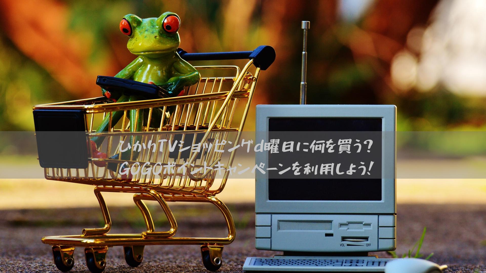 ひかりTVショッピングd曜日に何を買う?GOGOポイントキャンペーンを利用しよう!