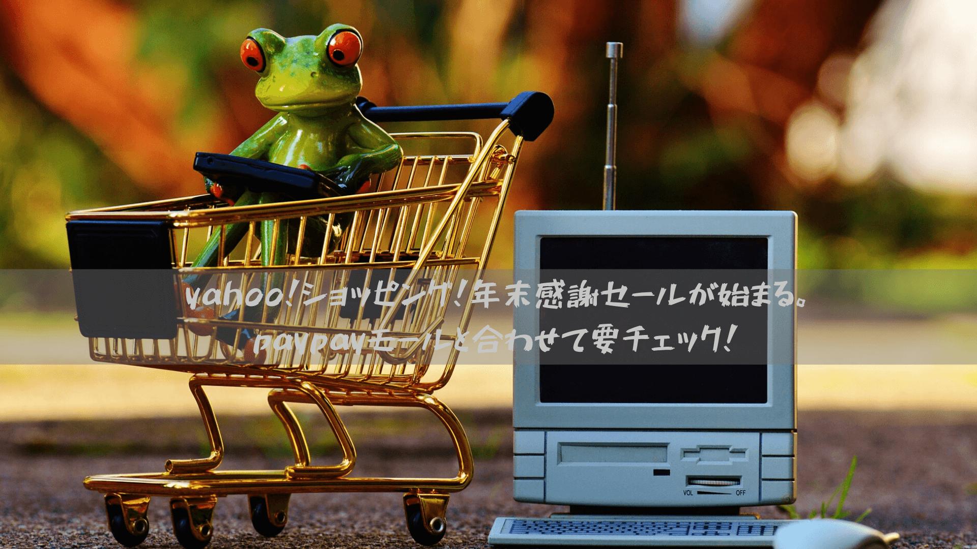 yahoo!ショッピング!年末感謝セールが始まる。paypayモールと合わせて要チェック!