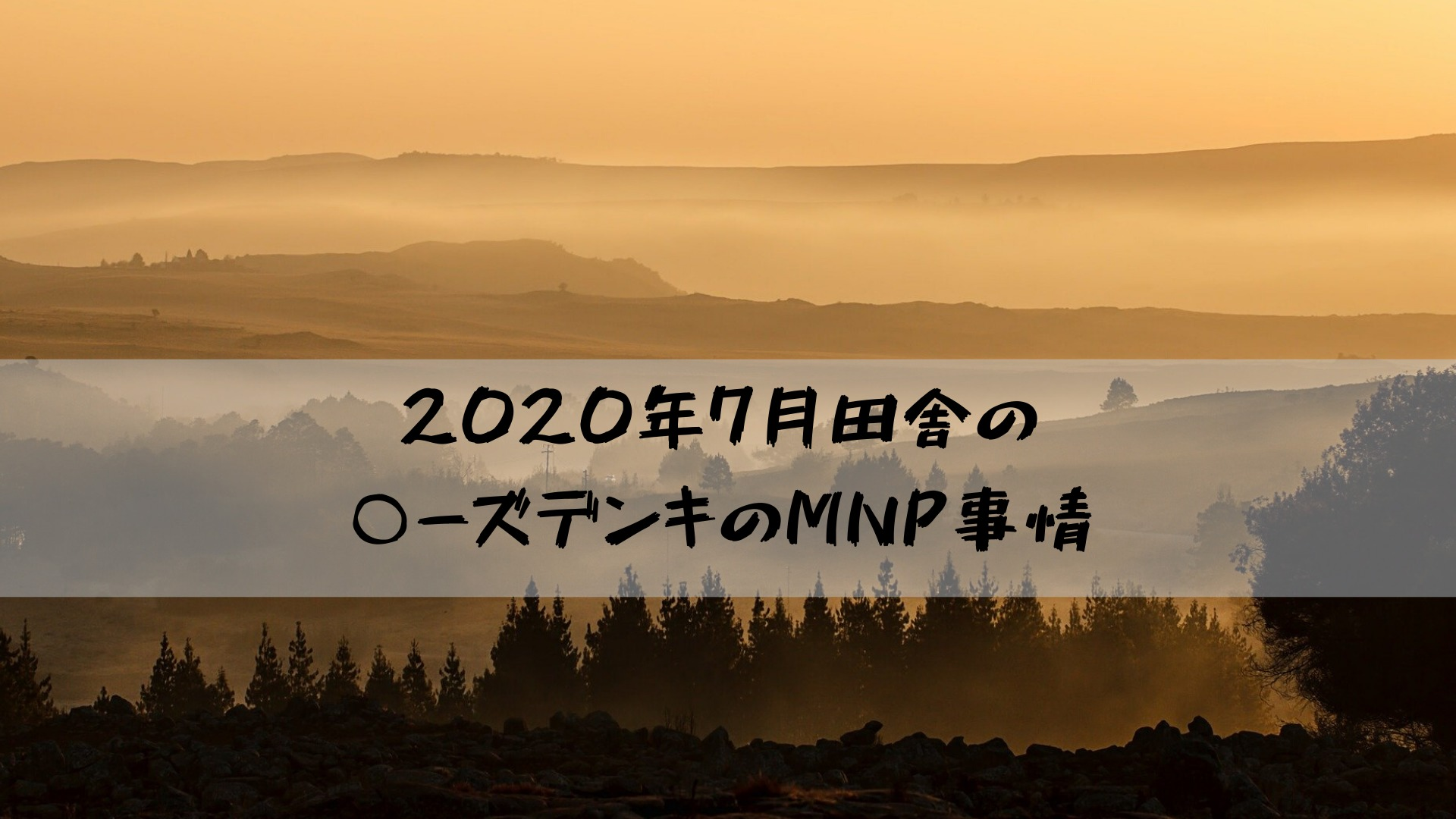 2020年7月田舎の○ーズデンキのMNP事情