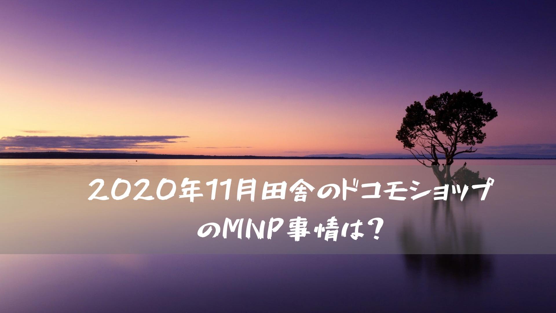 2020年11月田舎のドコモショップのMNP事情は?
